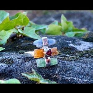 Kyanite & Garnet Ring